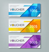 gift voucher template with different cost