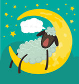 sheep sleeping on the moon