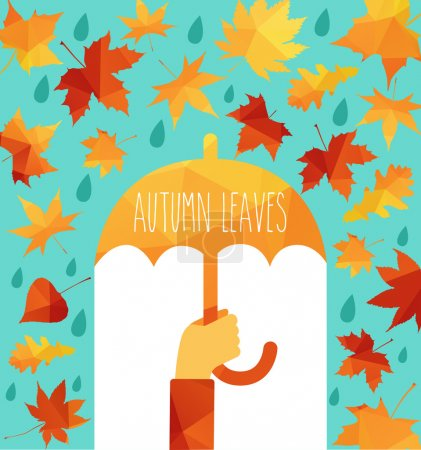illustration of autumn leaves