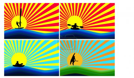 Background with water sports