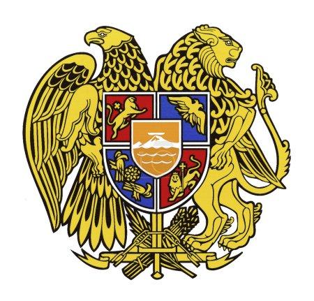 Photo pour Armoiries nationales de la République d'Arménie. - image libre de droit