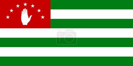 Photo pour Drapeau de la République d'Abkhazie - image libre de droit