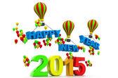 3D činí z šťastný nový rok 2015