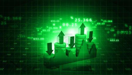 Photo pour Graphique de la bourse et business graphique à barres - image libre de droit