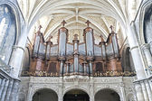 BORDEAUX, FRANCE - JULY 31: Pipe organ of the Cathedral of Borde