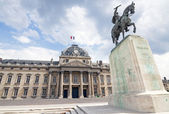 PARIS, FRANCE - AUGUST 01: Monument to Marshal Joffre near the E
