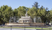 Seville or Hispalis fountain in Seville, Andalusia (Spain). The