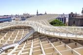SEVILLA, SPAIN - August 15: Upper vision of Metropol Parasol in