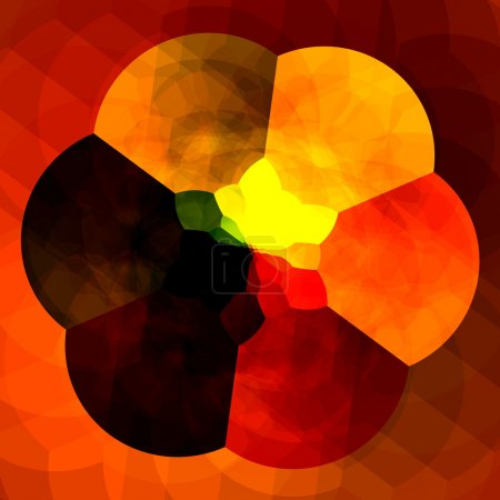 Abstract Orange Background for Design Artworks - Colorful Fractals - Creative Flower Digital Artwork - Kaleidoscopic Artistic Surreal Generative Art - Multicolored Abstraction - Strange Geometry
