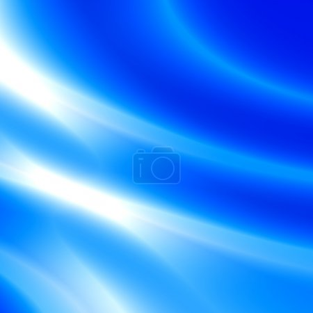Minimalistic Modern Background for Digital Tablet or Desktop Computer or Presentation - Abstract White Silky Smoke Against Blue - Illustration Graphic Design - Glowing Light Effect - Soft Blurred Rays