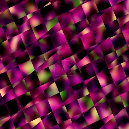 Abstract Purple Square Mosaic Background - Geometric Patterns and Backgrounds - Diagonal Lines Pattern - Blocks Tiles or Squares - Unique Creative Blur - Ornamental and Decorative Digitally Generated