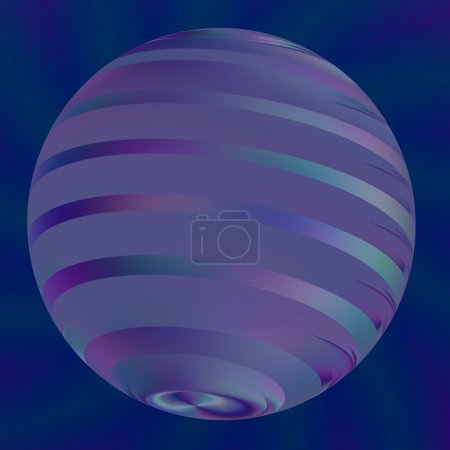 Blue Ball Illustration - Abstract Modern 3d Logo - Semitransparent Light Effects - Geometric Shape Backgrounds - Artworks Background - Creative Digital Art - Digitally Generated Image - Big Pearl