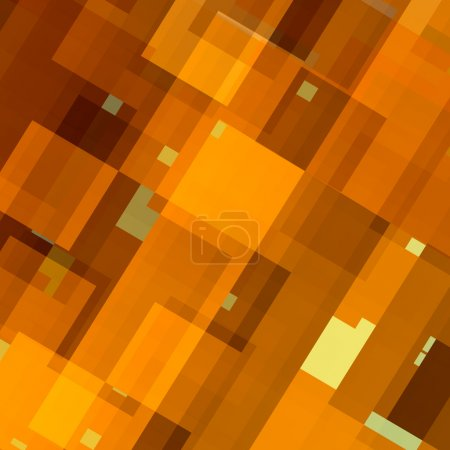 Abstract Background Pattern - Digital Art Design - Tiles Mosaic - Random Chaotic Lines and Shapes - Modern Flat Style - Warm Yellow Color Tone - Many Rectangles - Digitally Generated Image - Geometric