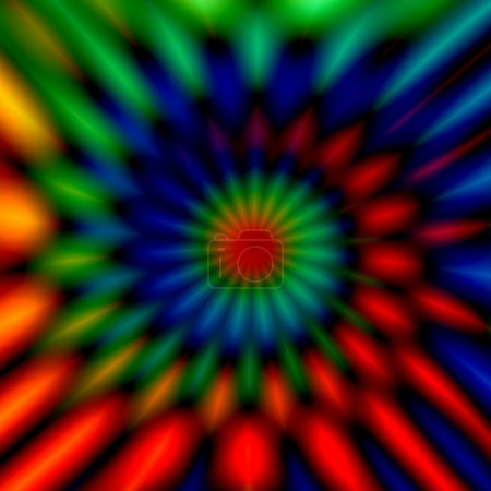 Blurry colorful swirl. Vivid twist decor. Cool weird shapes. Odd artsy graphic. Modern digital art. Made in full frame. Soft chromatic blur. Colour vortex imagery. Rgb color illustration. Rendering.
