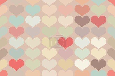 Illustration pour Fond vintage sans couture motif coeur. motif sans couture de cœurs dans un style vintage - image libre de droit