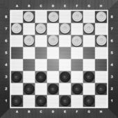 Brilliant classic checkers vector illustration there are two layers