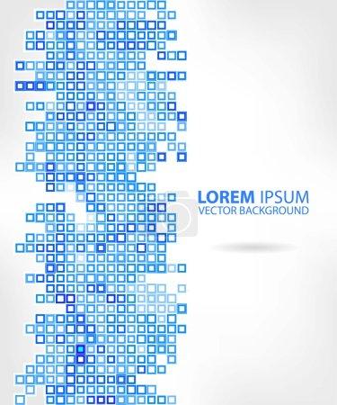Photo pour Abstraction bleue, composé de briques bleues, différentes nuances. 10 eps - image libre de droit