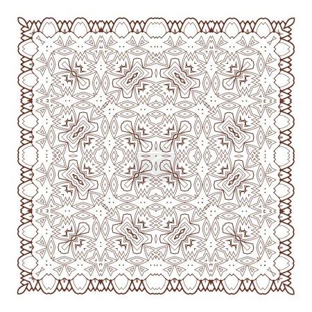 Illustration for Vector Beautiful Deco Black Mandala. 10 eps - Royalty Free Image