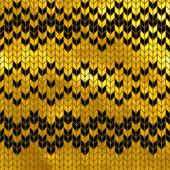 Golden seamless knitted pattern