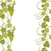 Seamless texture with vines and bunches of grapes