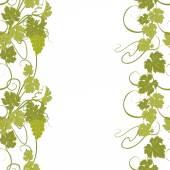 Bezešvá textura vinic a vinných hroznů