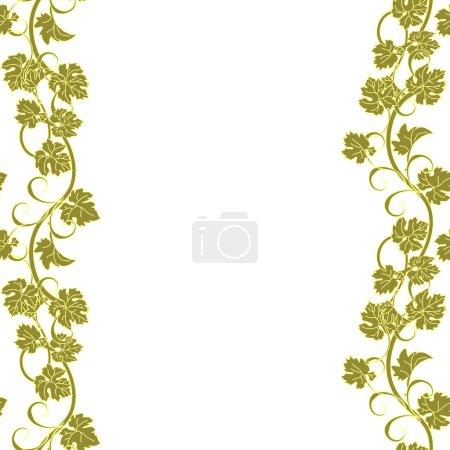 Illustration pour Motif vectoriel répétitif avec vignes dans un style vintage . - image libre de droit