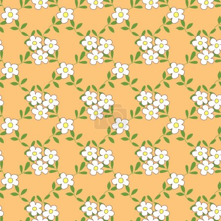 Seamless pattern with bouquets of flowers cartoon.