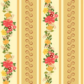 Vector repeating pattern with garlands of flowers