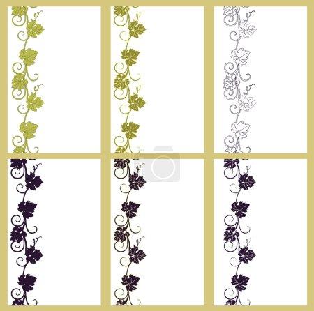 Illustration pour La texture du raisin avec des feuilles dans un style vintage . - image libre de droit