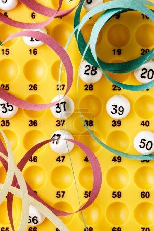 Bingo game details.