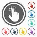 Hand click icon...