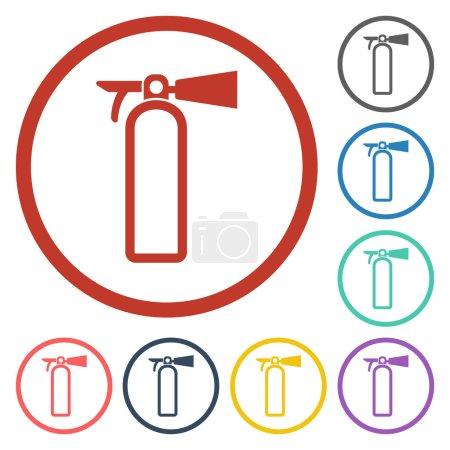 Fire extinguisher icon...