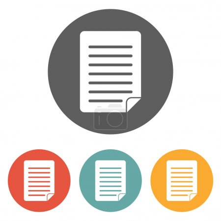 Illustration for Document icon - Royalty Free Image