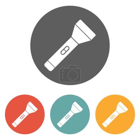 Illustration for Flashlight icon - Royalty Free Image