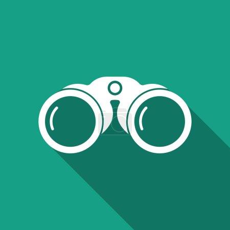 Illustration for Binoculars icon - Royalty Free Image