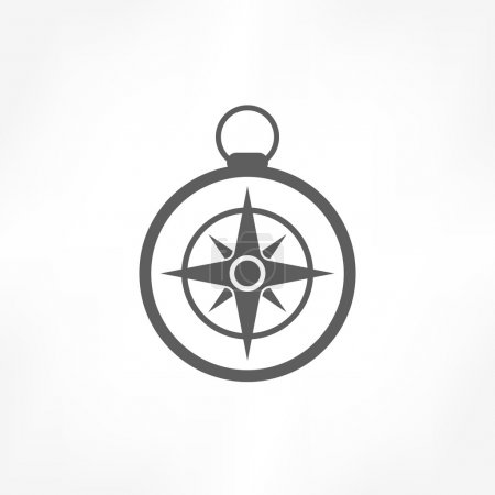Illustration for Compass icon - Royalty Free Image