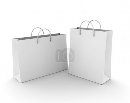 Photo for Empty Shopping Bag on white for advertising and branding - Royalty Free Image