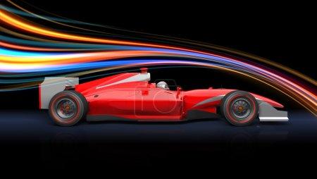 Formula race red car