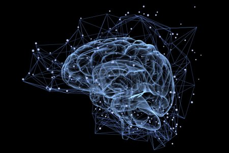 Photo for Illustration of the thought processes in the brain - Royalty Free Image