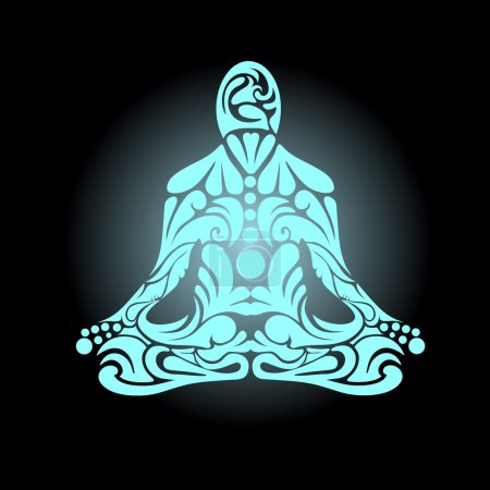 Illustration for Meditation pose vector - Royalty Free Image