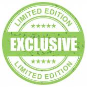 Exclusive limited edition stamp green