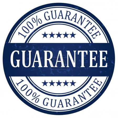 Illustration for Guarantee stamp with blue color vector - Royalty Free Image