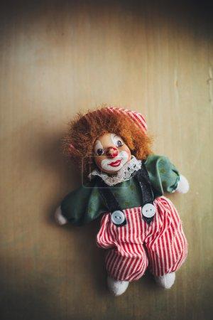 Vintage doll clown