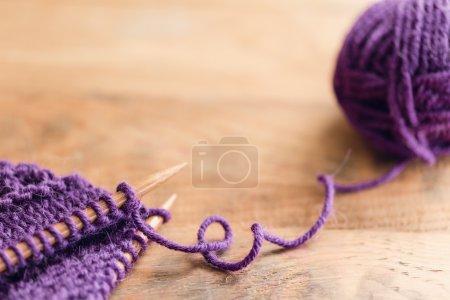 Crochet hooks with yarn ball
