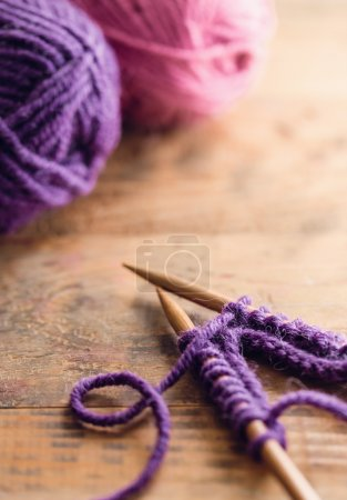 Crochet hooks with yarn balls