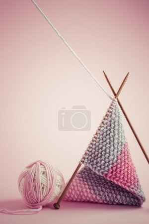 Knitting accessories close up