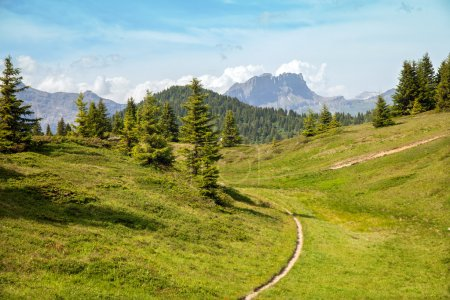 Mountain trail in French Alps