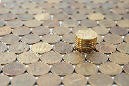 ten Russian coins