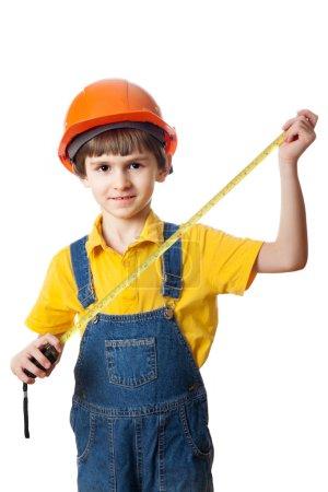 Construction worker boy