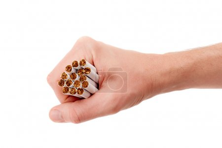 Male hand with cigarettes